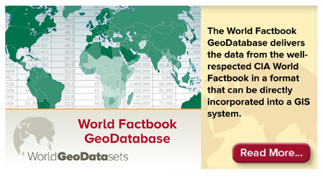 World Factbook GeoDatabase
